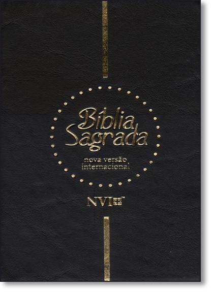 Bíblia Sagrada Nvi - Capa Preta com Zíper, livro de Equipe Geográfica