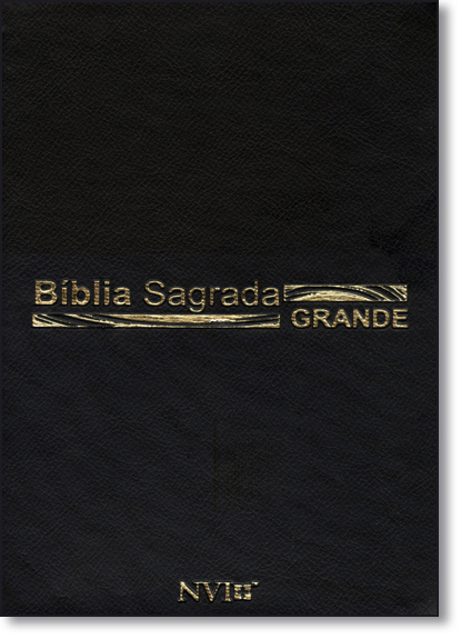 Bíblia Sagrada Nvi Grande - Capa Luxo Preta, livro de SBI - Sociedade Bíblica Internacional