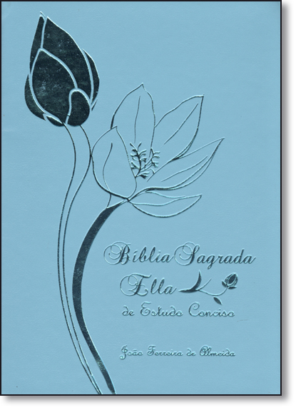 Bíblia Sagrada Ella de Estudo Conciso - Capa Luxo Turquesa, livro de Equipe Geográfica