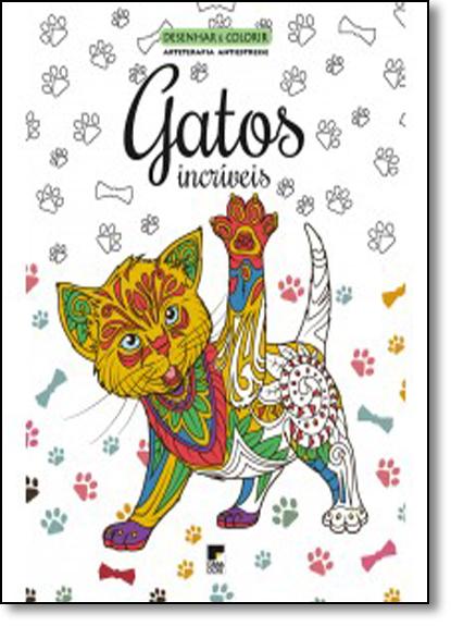 Livro Desenhar e Colorir: Gatos Incríveis, livro de Casa Dois Editora
