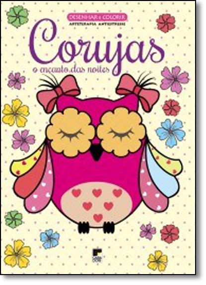 Livro Desenhar e Colorir: Corujas - O Encanto das Noites, livro de Casa Dois Editora