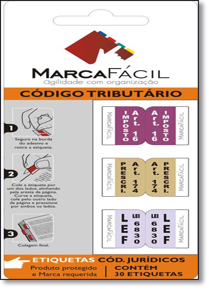 Etiquetas Para Códigos Jurídicos Marca Fácil: Código Tributário, livro de Unigráfica 28 Express