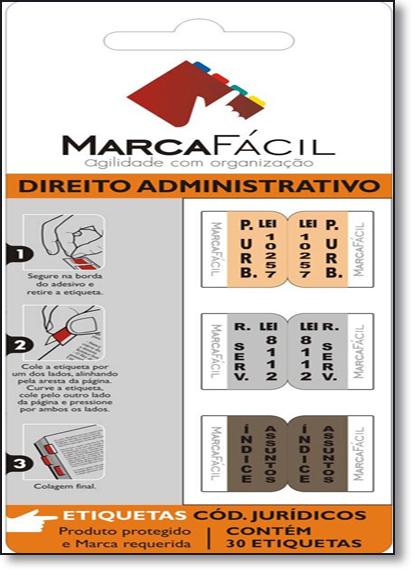 Etiquetas Para Códigos Jurídicos Marca Fácil: Direito Administrativo, livro de Unigráfica 28 Express