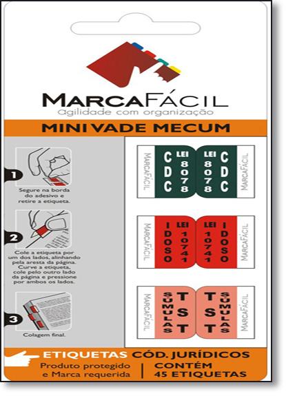Etiquetas Para Códigos Jurídicos Marca Fácil: Mini Vade Mecum, livro de Unigráfica 28 Express