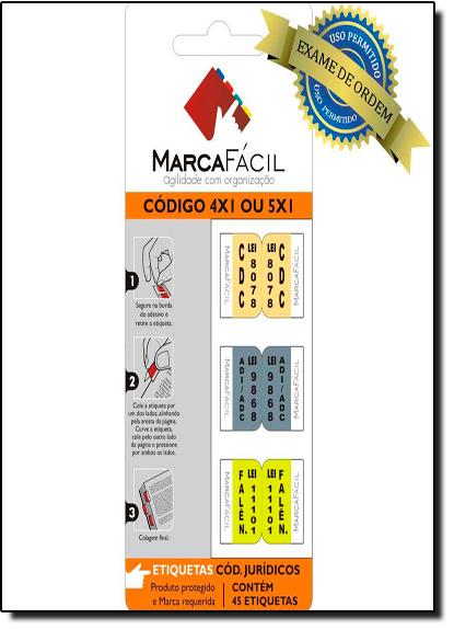 Etiquetas Para Códigos Jurídicos Marca Fácil: Código 4 X 1 ou 5 X 1, livro de Unigráfica 28 Express