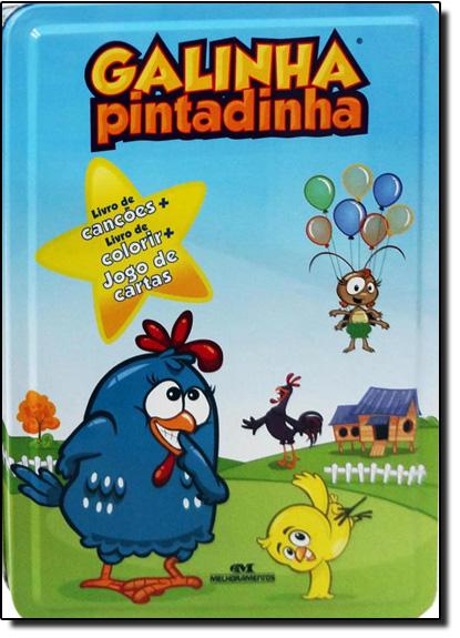 Kit de Livros Com Lata Galinha Pintadinha, livro de André Guilherme Polito