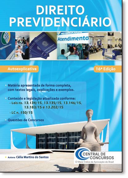 Direito Previdenciário, livro de Célia Martins dos Santos
