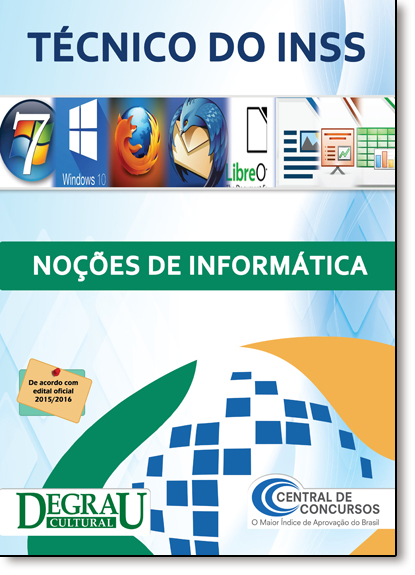 Técnico do Inss: Noções de Informática, livro de Central de Concursos