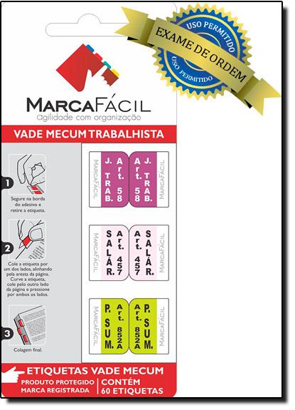 Etiquetas Jurídicas Vade Mecum Trabalhista, livro de Editora Marca Fácil