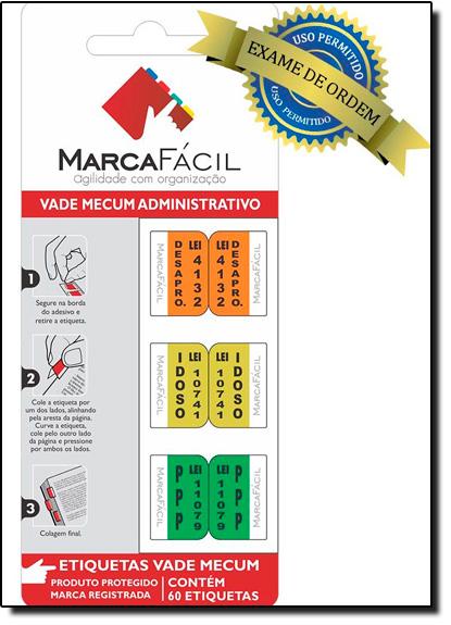 Etiquetas Jurídicas Vade Mecum Administrativo, livro de Editora Marca Fácil