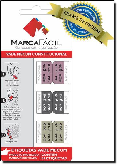 Etiquetas Jurídicas Vade Mecum Constitucional, livro de Editora Marca Fácil