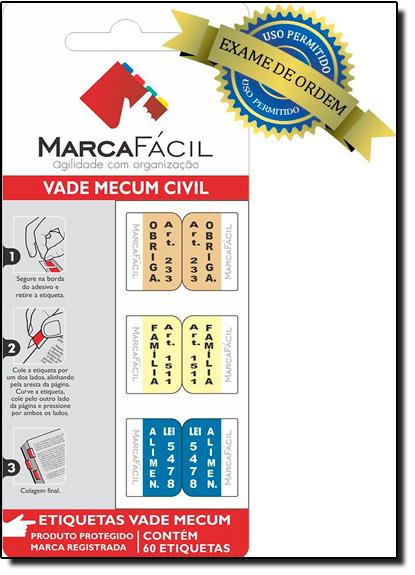 Etiquetas Jurídicas Vade Mecum Civil, livro de Editora Marca Fácil