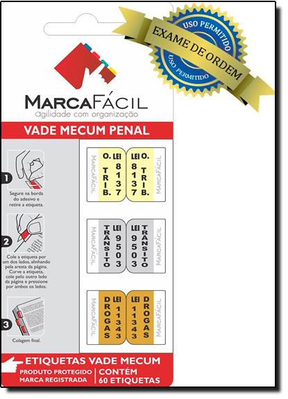 Etiquetas Jurídicas Vade Mecum Penal, livro de Editora Marca Fácil