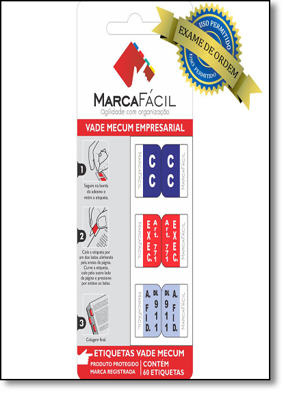Etiquetas Jurídicas Vade Mecum Empresarial Oab, livro de Editora Marca Fácil