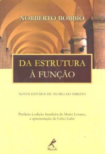 Da Estrutura à Função-novos estudos de teoria do direito, livro de Bobbio, Norberto