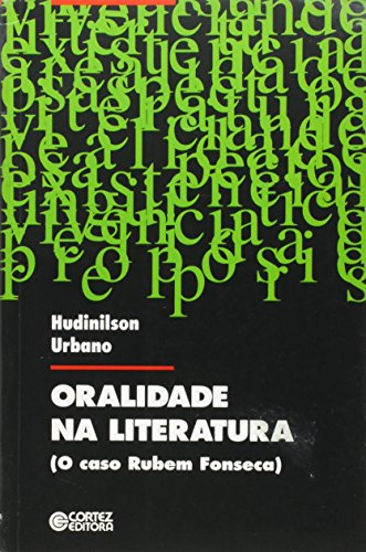 ORALIDADE NA LITERATURA, livro de URBANO, HUDINILSON