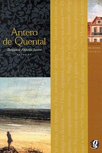 Melhores Poemas Antero de Quental, livro de Benjamin Abdala Junior