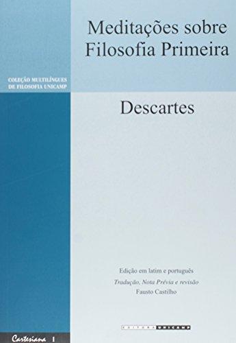 Meditações sobre Filosofia Primeira, livro de Descartes