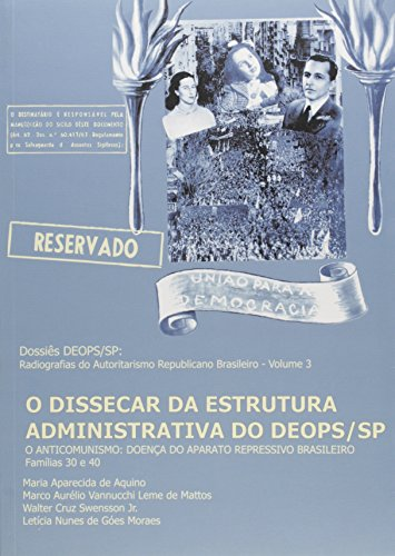 Dissecar da Estrutura Administrativa do Deops/SP, livro de VARIOS