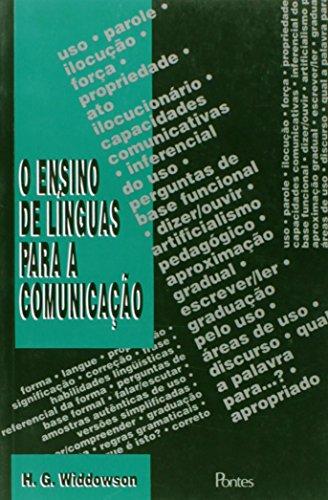 Ensino de línguas para comunicação, livro de H. G. Widdowson