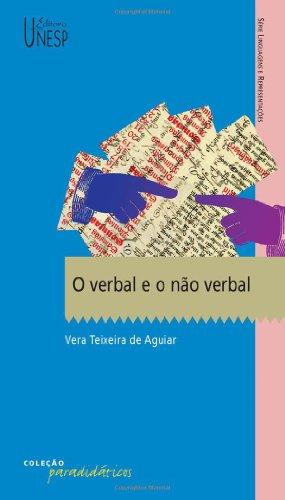 O verbal e o não verbal, livro de Vera Teixeira de Aguiar
