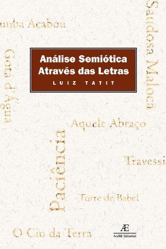 Análise Semiótica Através das Letras, livro de Luiz Tatit