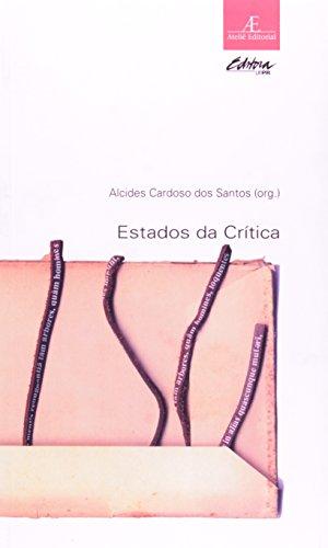 Estados da Crítica, livro de Alcides Cardoso dos Santos (org.)