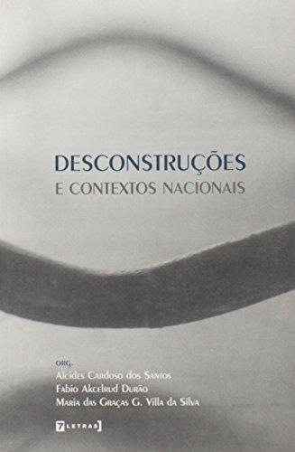Desconstruções e contextos nacionais, livro de Alcides Cardoso dos Santos