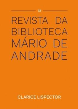 Revista da Biblioteca Mário de Andrade nº 72 - Clarice Lispector, livro de Gutemberg Medeiros (org.)