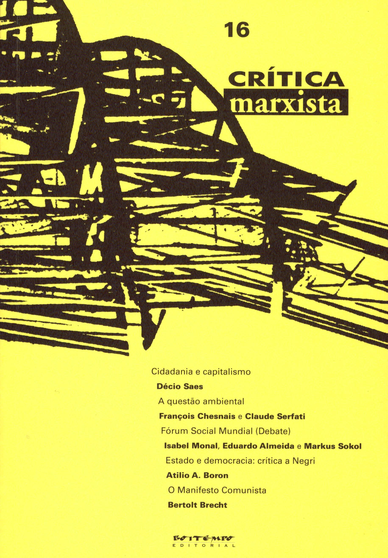 Crítica Marxista n. 16, livro de Vários autores