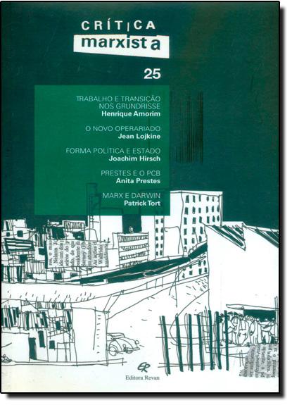 Crítica Marxista Vol.25, livro de Editora Revan