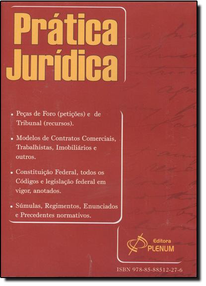 DVD Prática Jurídica - Edição 2012 - DVD-Rom, livro de PLENUM
