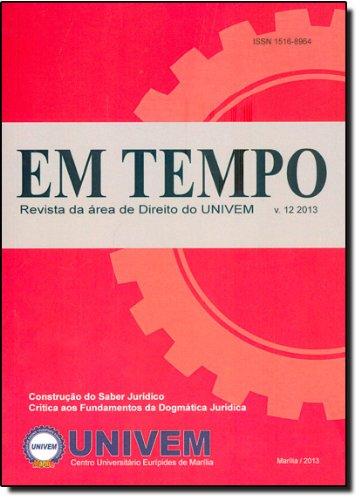 Revista Em Tempo - Vol.12 - 2013, livro de Luiz Carlos de Macedo Soares