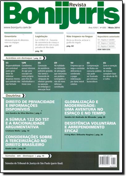 Revista Bonijuris - Ano Xxvi - 606 - Maio 2014, livro de Luiz Fernando de Queiróz