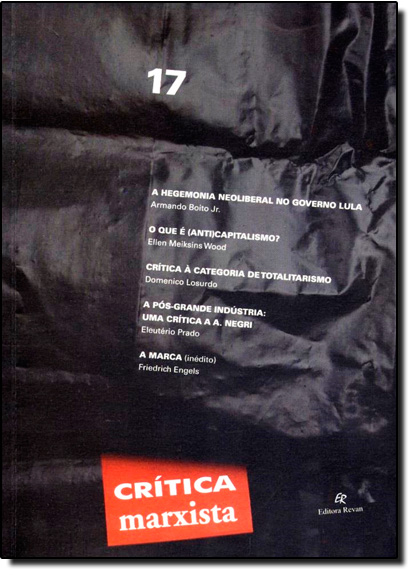 Crítica Marxista - Vol.17, livro de Armando Boito Jr.