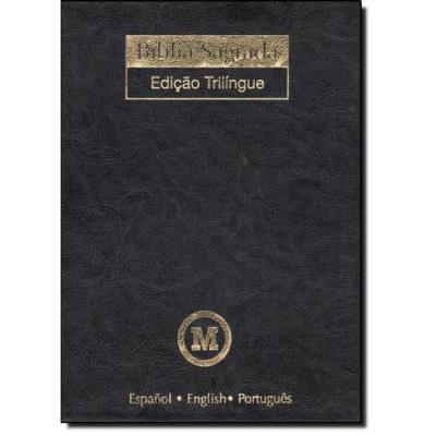 Bíblia Sagrada - Edição Trilingue - Espanol, English, Portugues - Capa Preta, livro de MACKENZIE