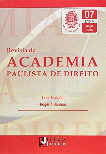 Revista da Academia Paulista de Direito - Nº.7 - Ano 4 - Janeiro-julho 2015, livro de Rogério Donnini