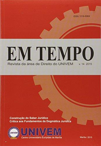 Revista Em Tempo - Vol.14 - 2015, livro de Luiz Carlos de Macedo Soares