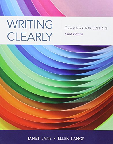 Writing Clearly: Grammar For Editing, livro de Janet Lane