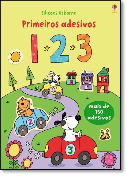 Primeiros Adesivos: 1 2 3, livro de Edições Usborne
