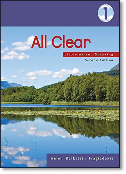 All Clear 1 - Listenning And Speaking, livro de Helen Kalkstein Fragiadakis