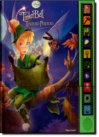 Tinkerbell e o Tesouro Perdido, livro de Gustavo Piqueira