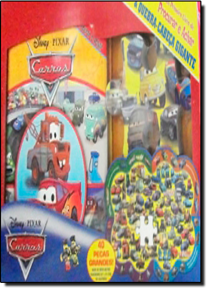 Carros Meu Primeiro Livro de Procurar e Achar + Quebra-Cabeça Gigante, livro de Disney
