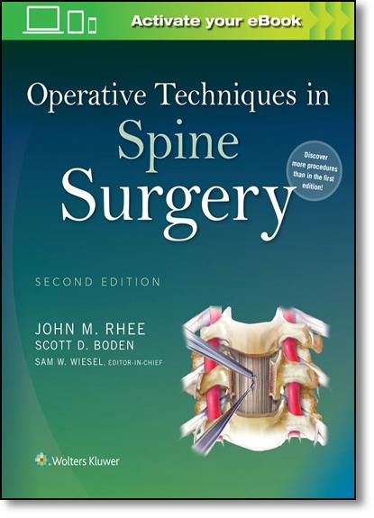 Operative Techniques in Spine Surgery, livro de John M. Rhee