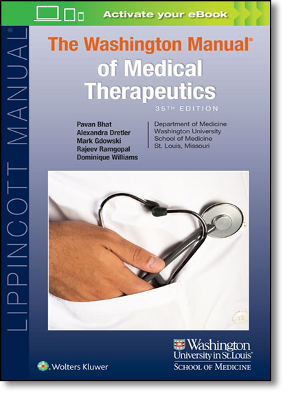 The Washington Manual of Medical Therapeutics - Softbound Edition, livro de Pavan Bhat