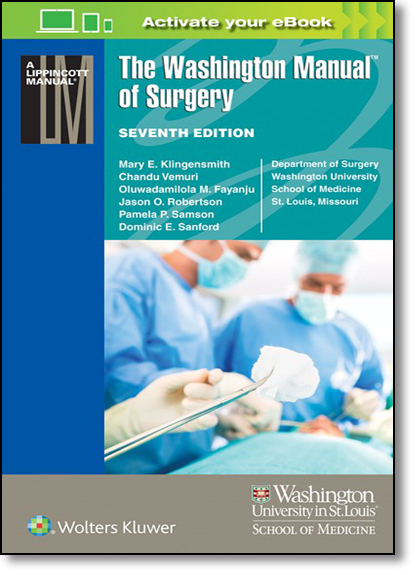 The Washington Manual of Surgery, livro de Mary E. Klingensmith