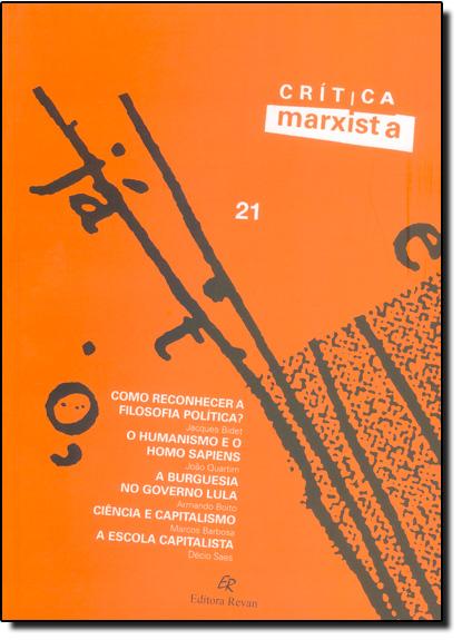 Crítica Marxista - Vol.21, livro de Editora Revan