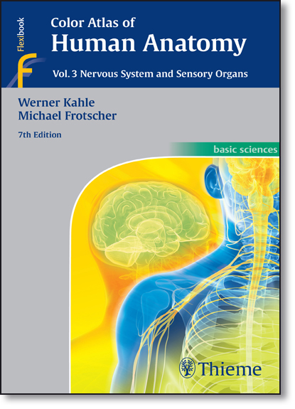 Color Atlas of Human Anatomy: Nervous System and Sensory Organs - Vol.3, livro de Werner Kahle