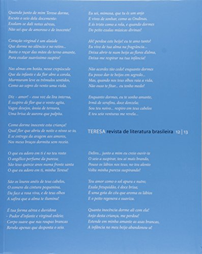 Revista Teresa (nº 12/13 - ISSN 1517-9737), livro de Departamento de Letras Clássicas e Vernáculas - FFLCH - USP