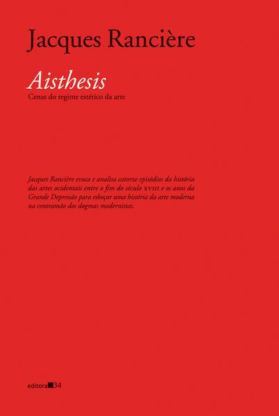 Aisthesis: cenas do regime estético da arte, livro de Jacques Rancière
